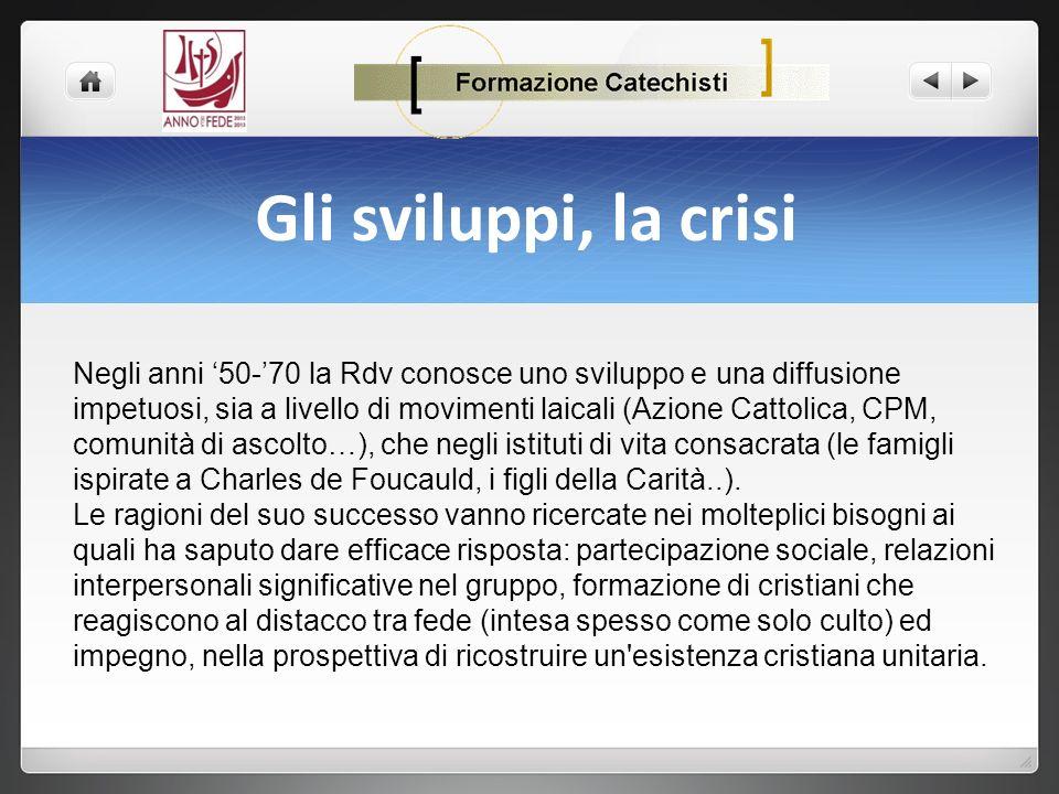 Gli sviluppi, la crisi - Papa Giovanni XXIII consacrò il metodo del vedere, valutare, agire suggerendolo alla chiesa universale nell enciclica Mater et Magistra del 1961.