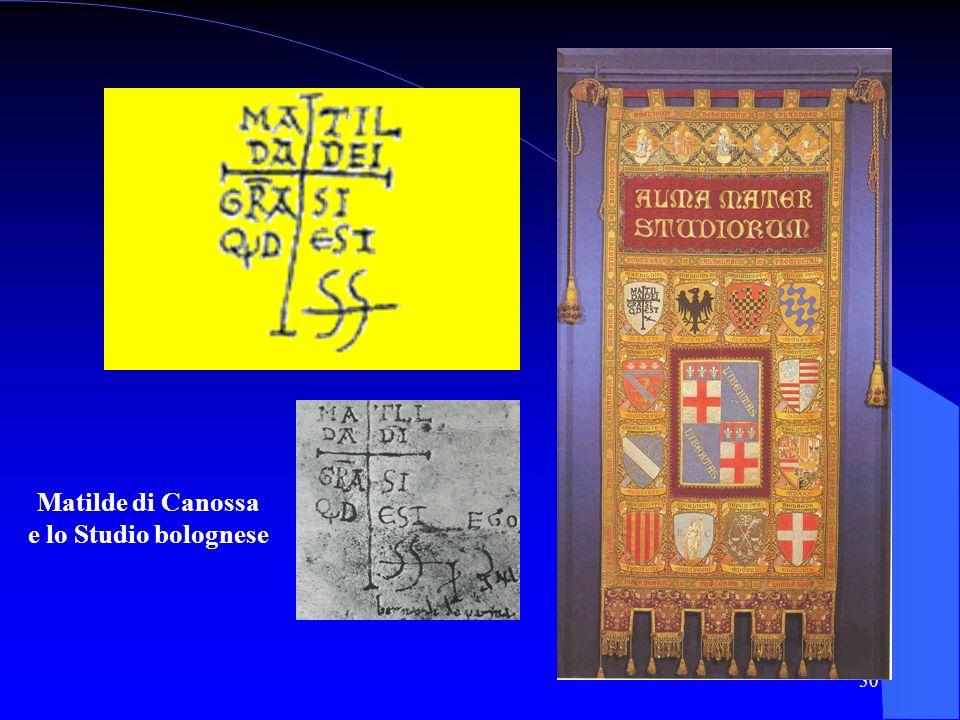 50 Matilde di Canossa e lo Studio bolognese