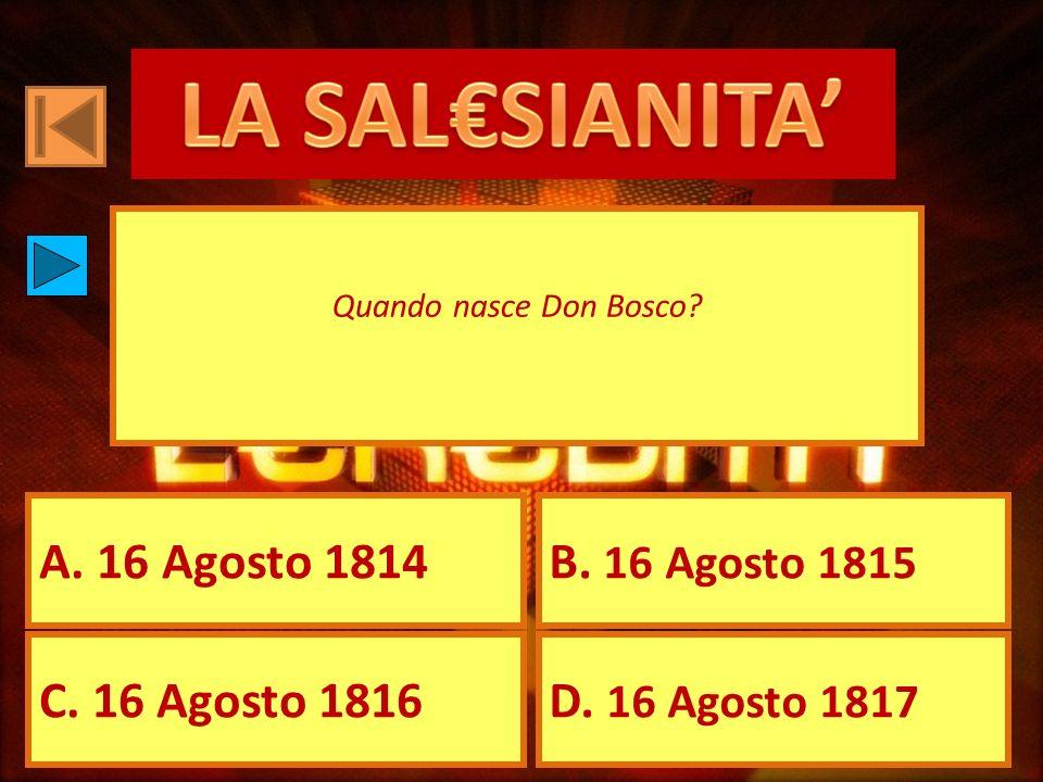 A.31 Gennaio 1888 B. 26 Gennaio 1854 C. 22 Gennaio 1815 D.