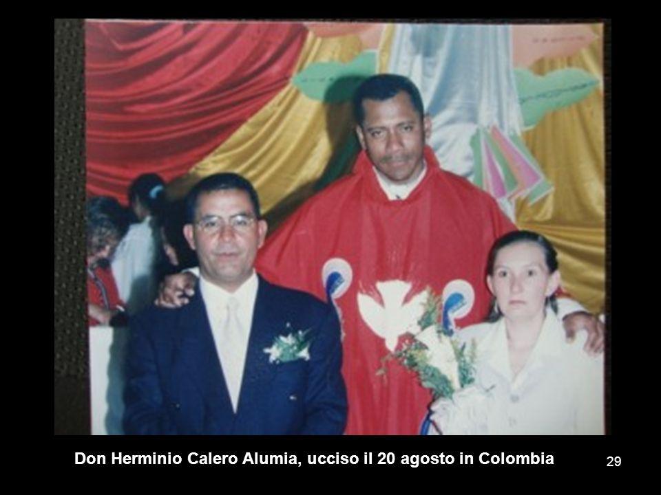 Don Herminio Calero Alumia, ucciso il 20 agosto in Colombia 29