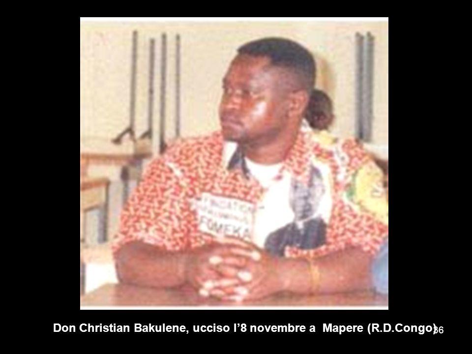 Don Christian Bakulene, ucciso l8 novembre a Mapere (R.D.Congo) 36