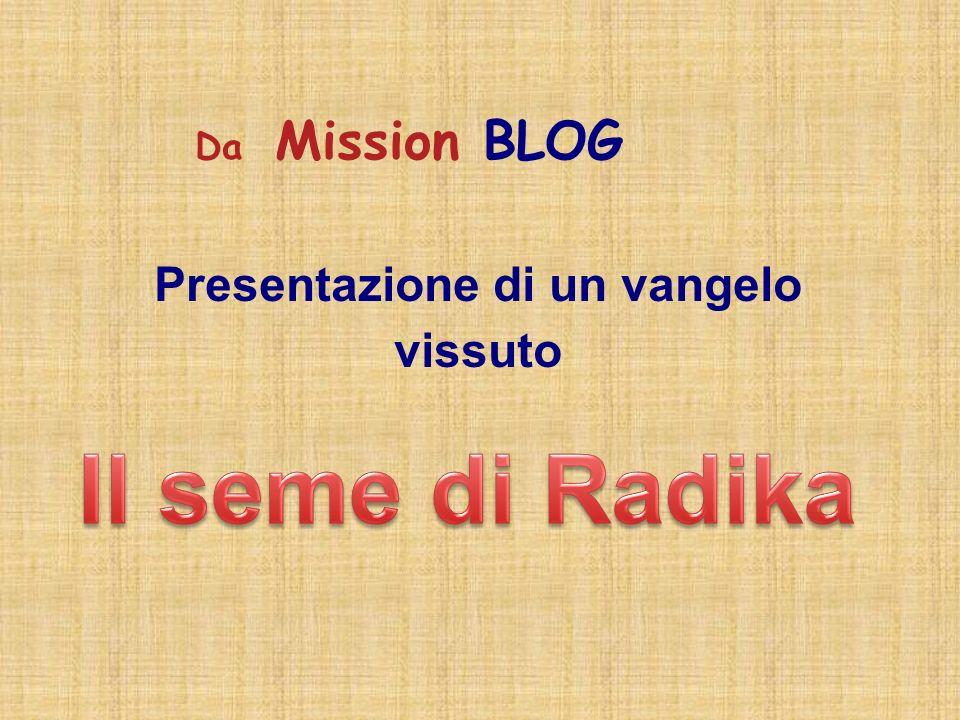 Presentazione di un vangelo vissuto Da Mission BLOG