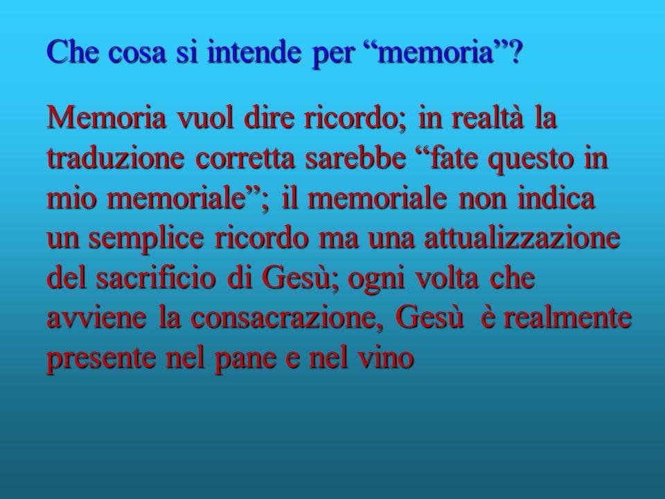 Memoria vuol dire ricordo; in realtà la traduzione corretta sarebbe fate questo in mio memoriale; il memoriale non indica un semplice ricordo ma una a