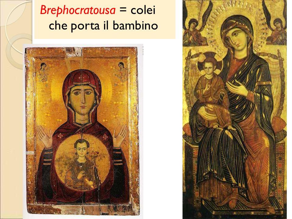 Brephocratousa = colei che porta il bambino