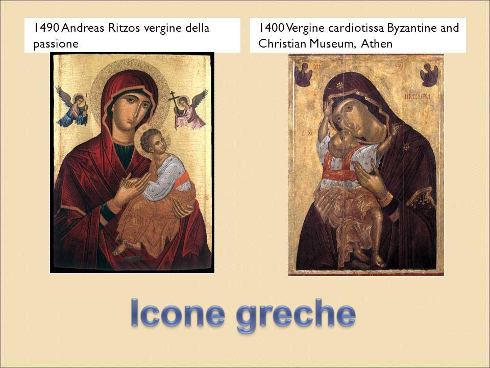 1490 Andreas Ritzos vergine della passione 1400 Vergine cardiotissa Byzantine and Christian Museum, Athen