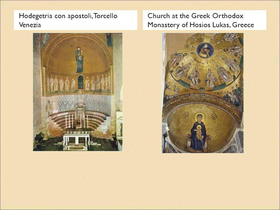 Hodegetria con apostoli, Torcello Venezia Church at the Greek Orthodox Monastery of Hosios Lukas, Greece