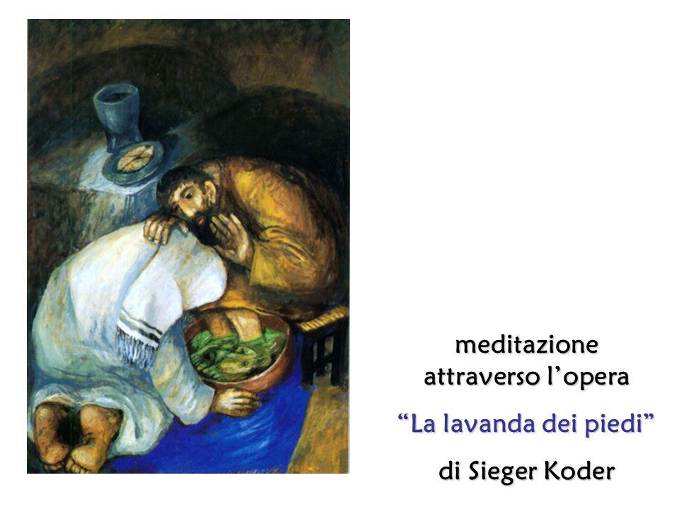 Gesù e Pietro sinchinano profondamente luno verso laltro.