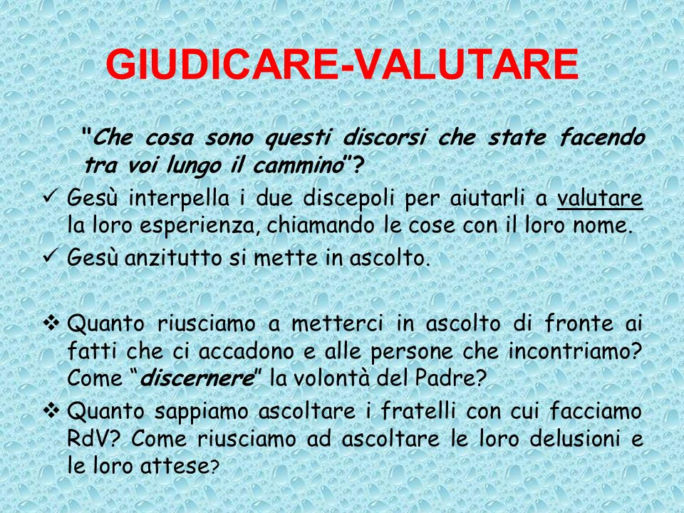 GIUDICARE-VALUTARE