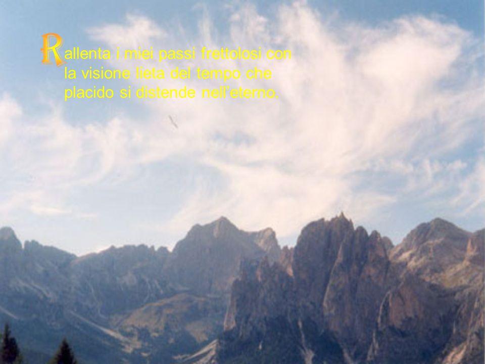 alma il mio cuore, Signore, acquieta i pensieri della mia mente.