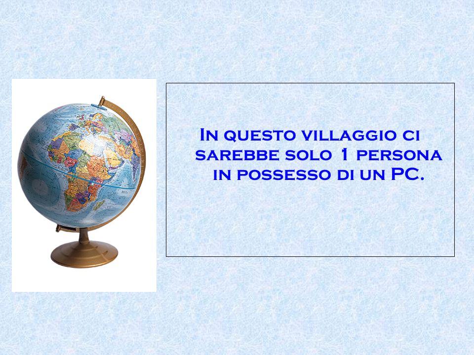 In questo villaggio ci sarebbe solo 1 persona in possesso di un PC.