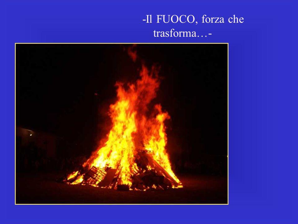 -Il FUOCO, forza che trasforma…-