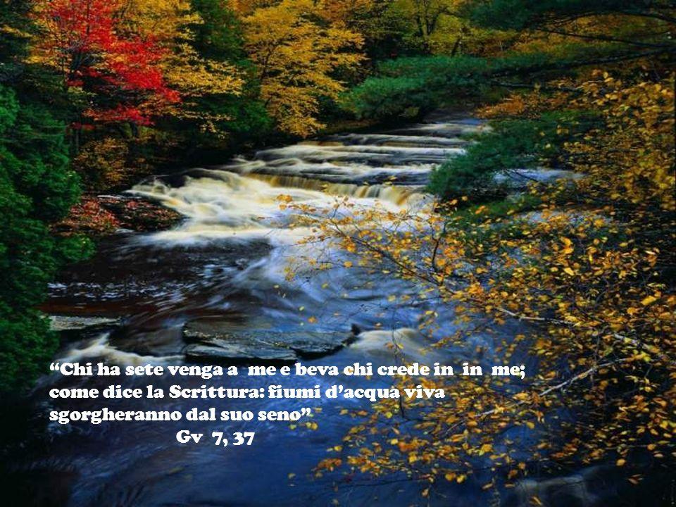 LACQUA Allora il Signore disse a Mosè Stendi la tua mano sul mare e le acque si rovesceranno sopra gli Egiziani, i loro carri ed i loro cavalieri. Mos