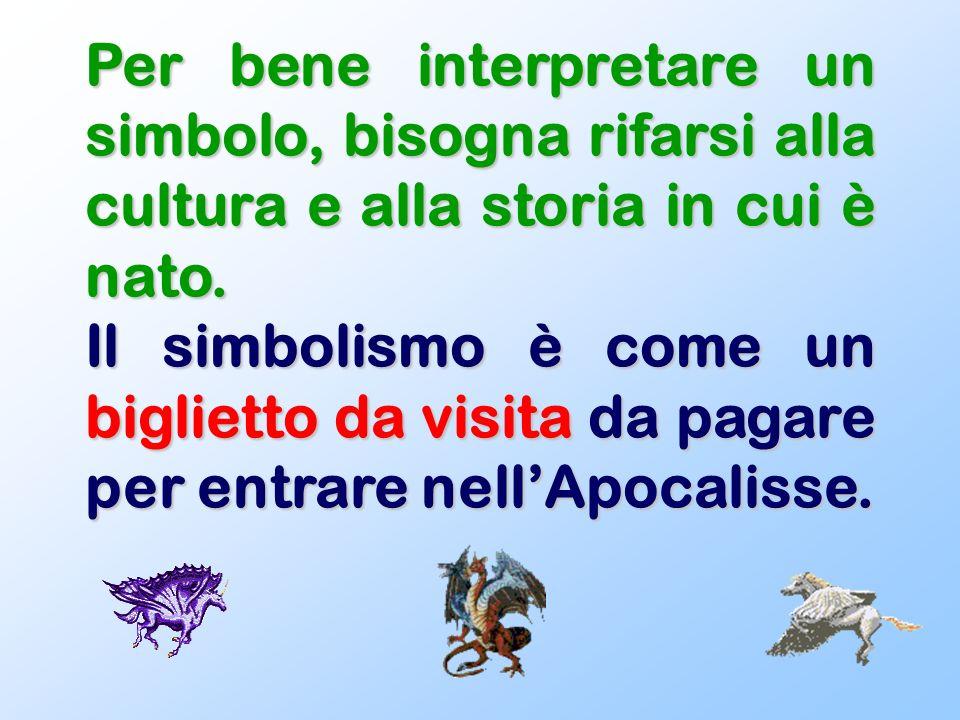 6 CHIAVI DI INTERPRETAZIONE Simbolismo cosmico Simbolismo antropologico Simbolismo tereomorfo Simbolismo cromatico Simbolismo geofisico Simbolismo aritmerico