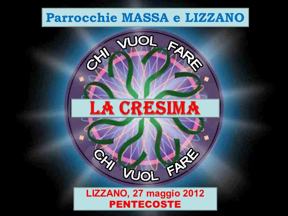 LA CRESIMA Parrocchie MASSA e LIZZANO LIZZANO, 27 maggio 2012 PENTECOSTE