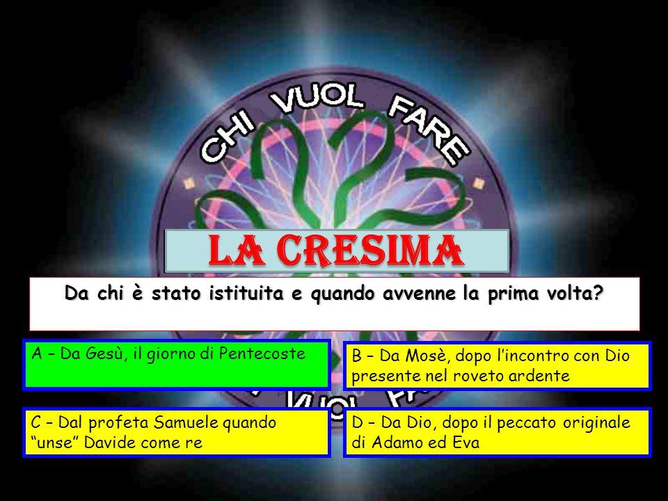 A – Cinque latiB – Pentimento C – Cinquantesimo giornoD – Dolore al costato Cosa significa la parola Pentecoste.