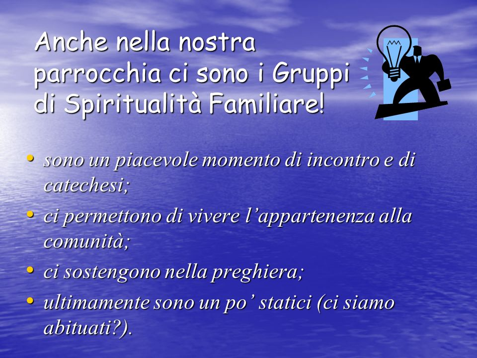 Anche nella nostra parrocchia ci sono i Gruppi di Spiritualità Familiare! sono un piacevole momento di incontro e di catechesi; ci permettono di viver