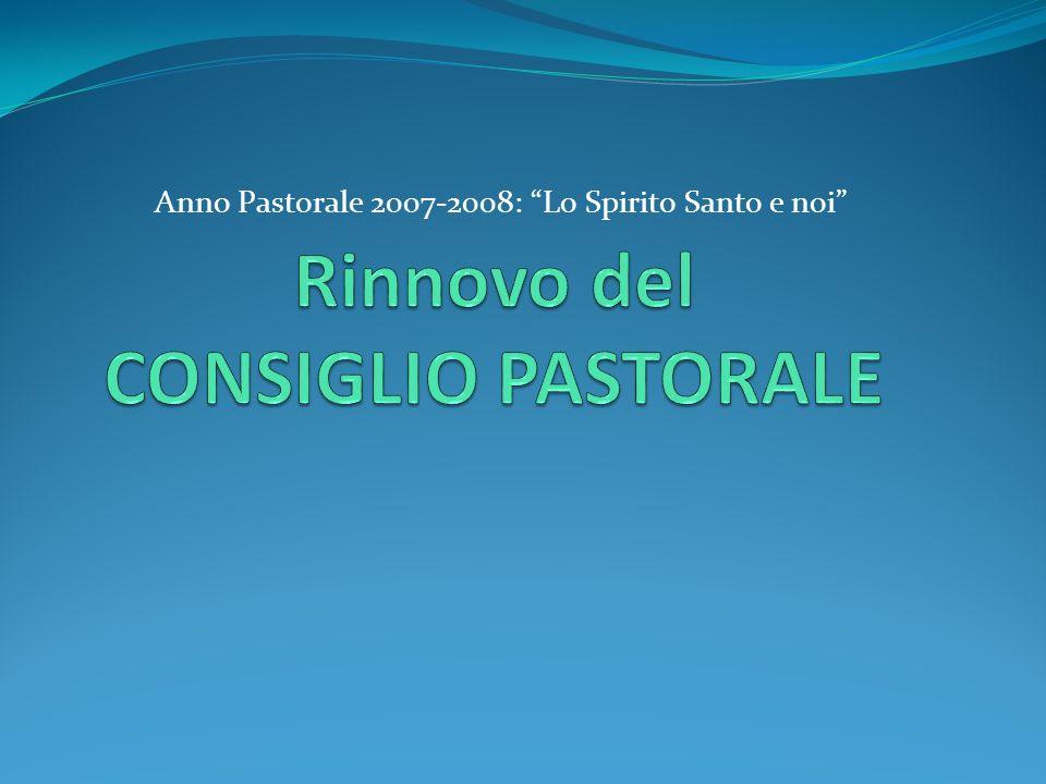 Anno Pastorale 2007-2008: Lo Spirito Santo e noi