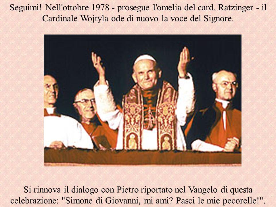 Si rinnova il dialogo con Pietro riportato nel Vangelo di questa celebrazione: