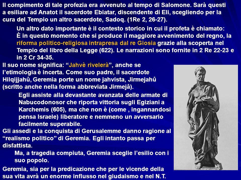 LA COMPOSIZIONE DEL LIBRO Il libro di Geremia – cui ha posto mano il segretario Baruc (c.