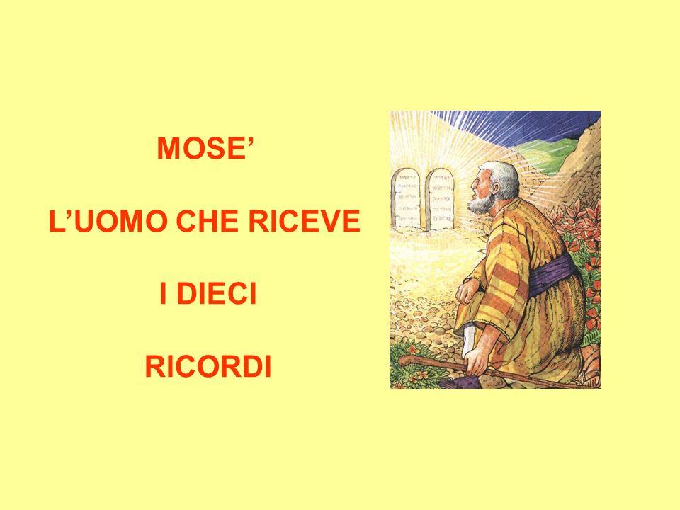 MOSE LUOMO CHE RICEVE I DIECI RICORDI
