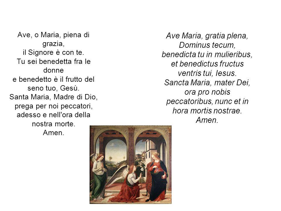 Gloria al Padre e al Figlio e allo Spirito Santo.Amen.