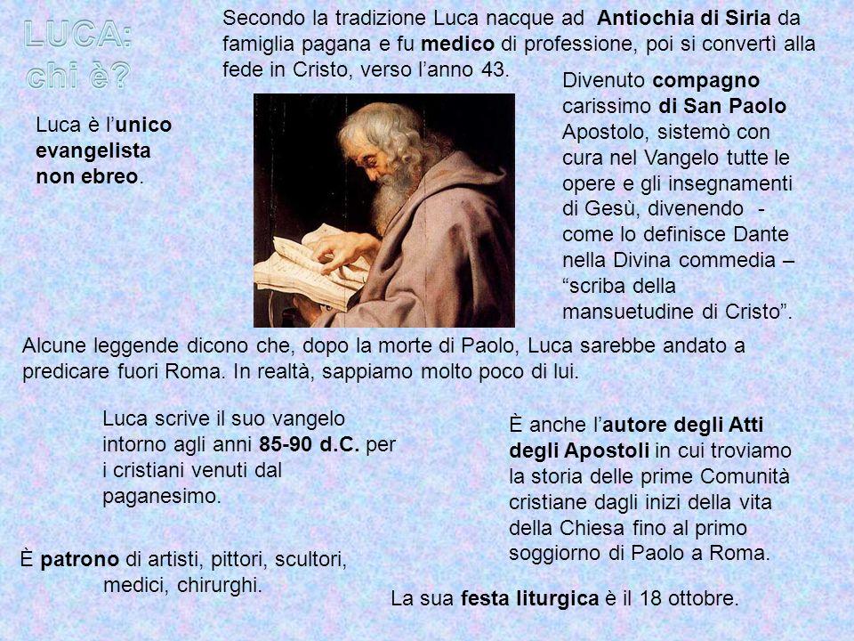Divenuto compagno carissimo di San Paolo Apostolo, sistemò con cura nel Vangelo tutte le opere e gli insegnamenti di Gesù, divenendo - come lo definis