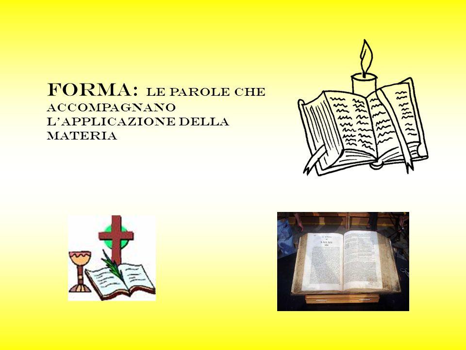 FORMA: LE PAROLE CHE ACCOMPAGNANO LAPPLICAZIONE DELLA MATERIA