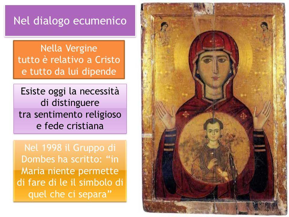 Nel dialogo ecumenico Esiste oggi la necessità di distinguere tra sentimento religioso e fede cristiana Esiste oggi la necessità di distinguere tra se