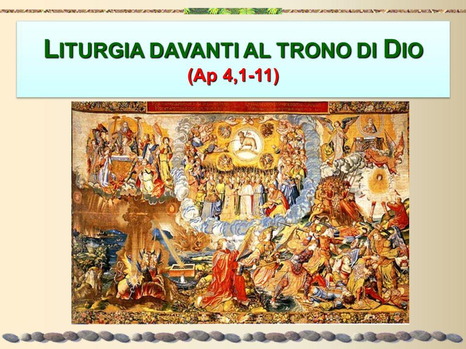 Sul trono Uno stava seduto Per rispetto alla divina trascendenza e per un timore riverenziale, il nome di Dio non viene mai menzionato.