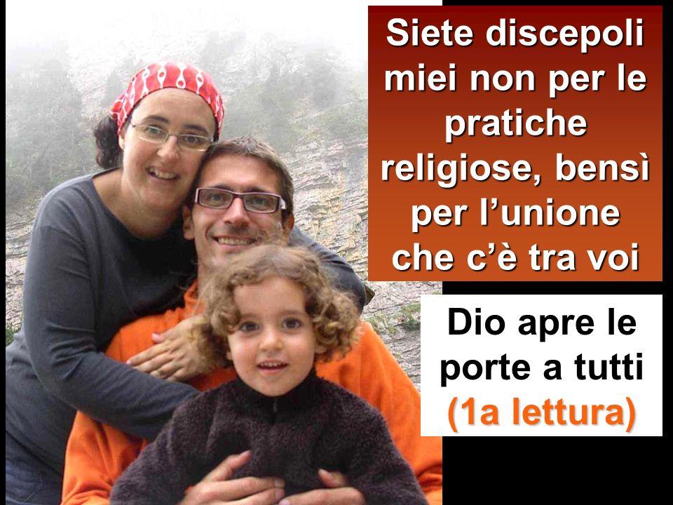Da questo tutti sapranno che siete miei discepoli: se avete amore gli uni per gli altri».