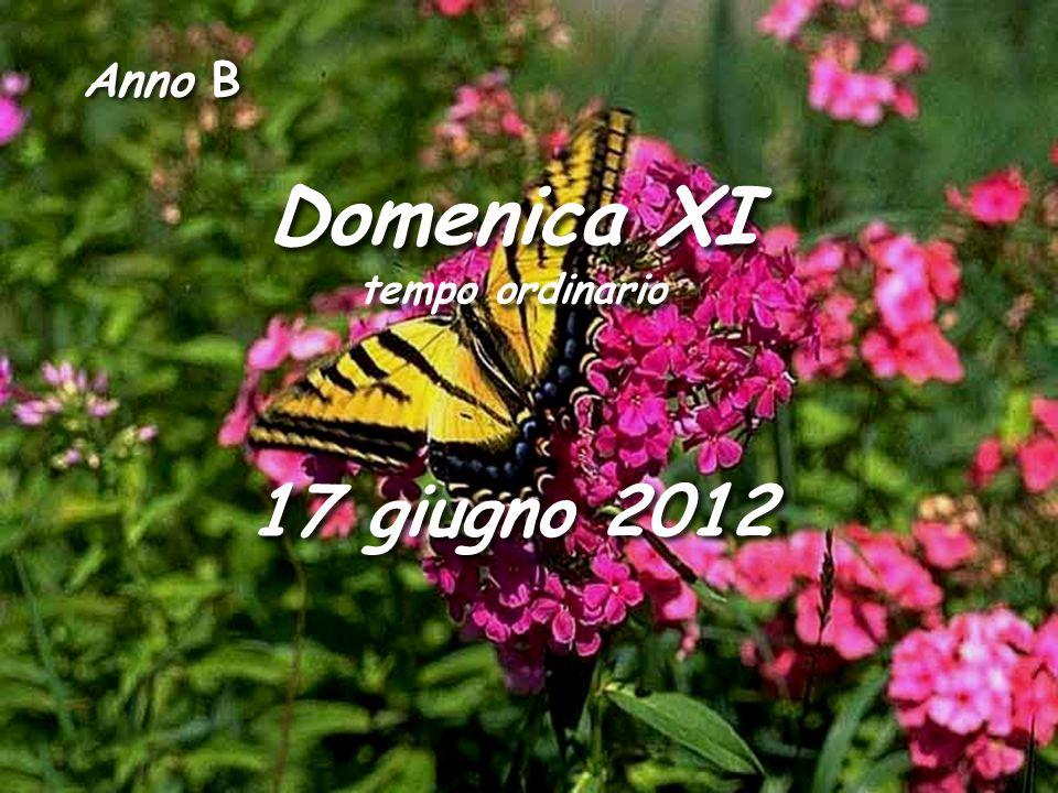 Anno B Domenica XI tempo ordinario Domenica XI tempo ordinario 17 giugno 2012