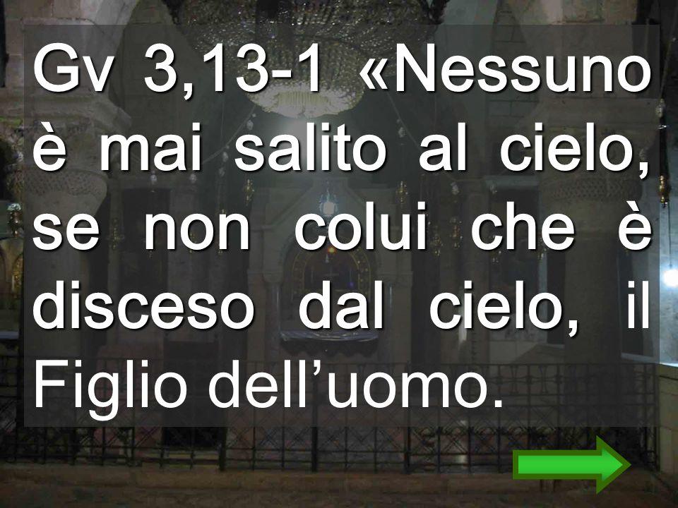 Gv 3,13-1 «Nessuno è mai salito al cielo, se non colui che è disceso dal cielo, Gv 3,13-1 «Nessuno è mai salito al cielo, se non colui che è disceso dal cielo, il Figlio delluomo.