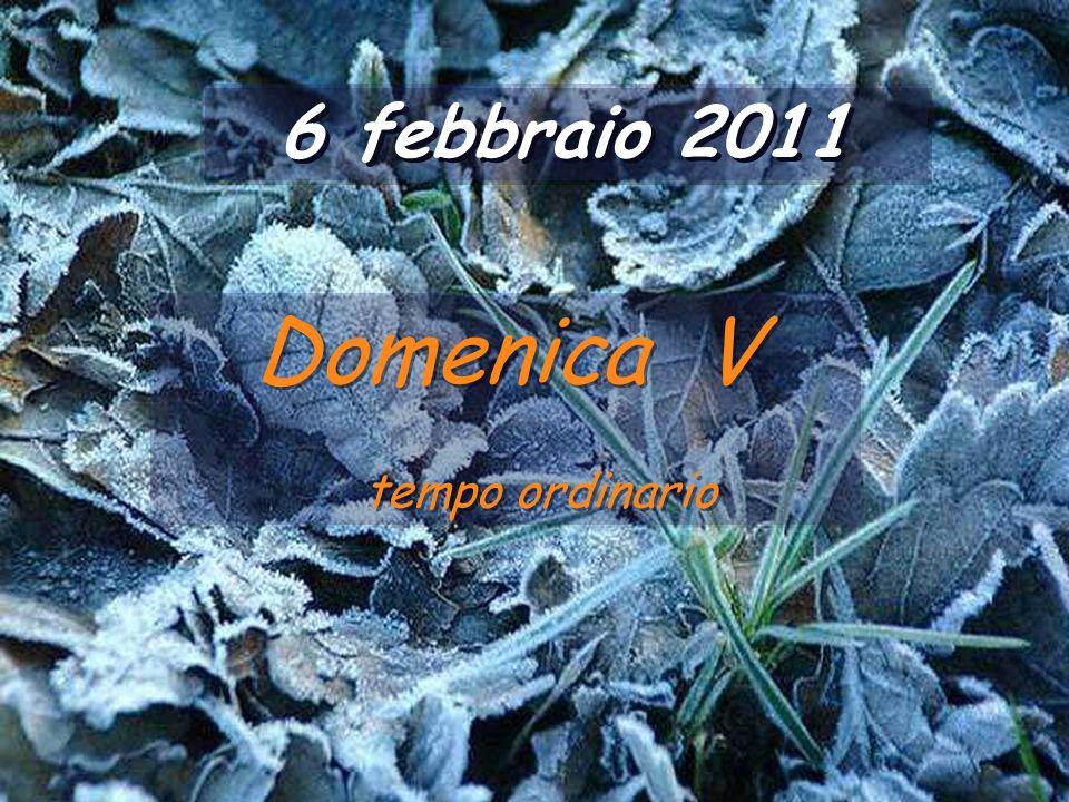 6 febbraio 2011 Domenica V tempo ordinario Domenica V tempo ordinario