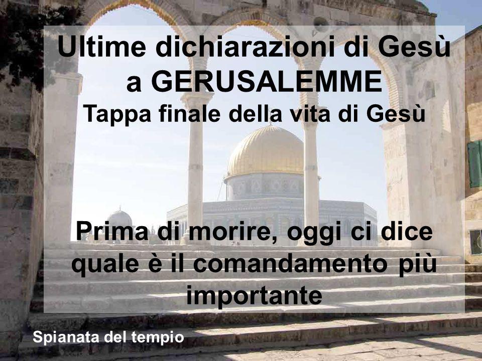 A Gerusalemme, mentre Gesù cammina per il recinto del tempio, vanno a trovarlo i capi religiosi del popolo Luogo del recinto dellantico Tempio di Gerusalemme
