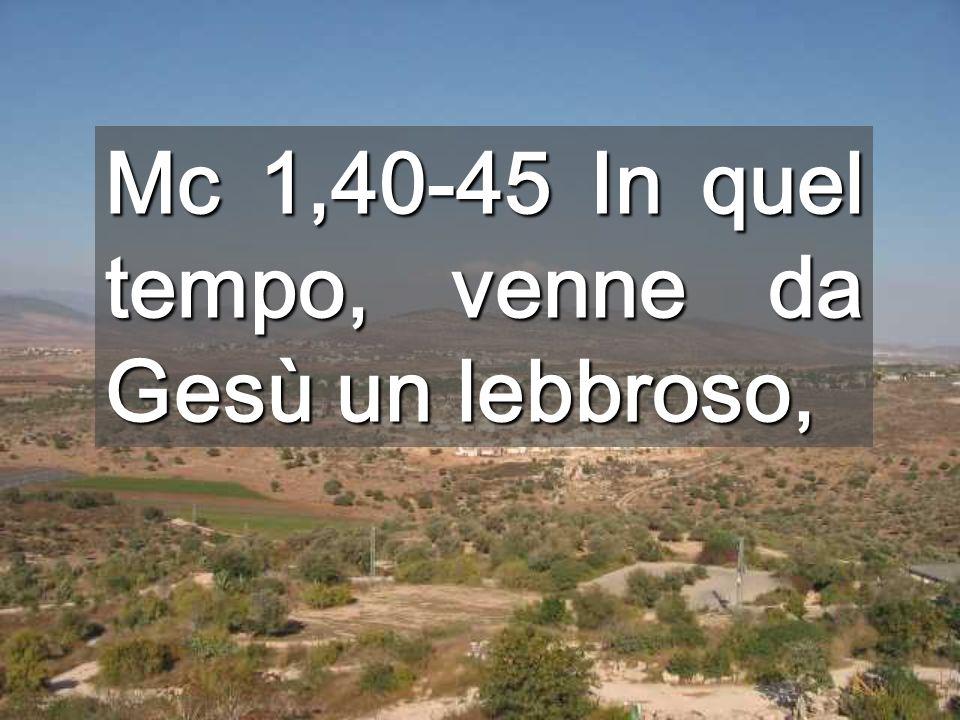 Il miracolo del lebbroso è un segno del Regno (Is30).