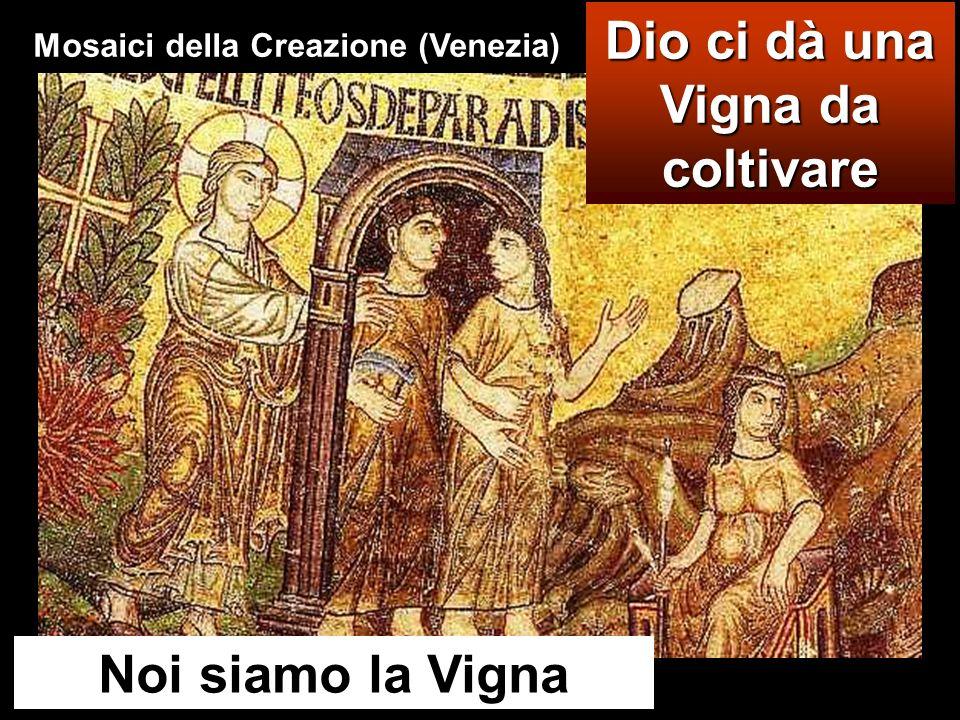 Dio ci dà una Vigna da coltivare Noi siamo la Vigna Mosaici della Creazione (Venezia)