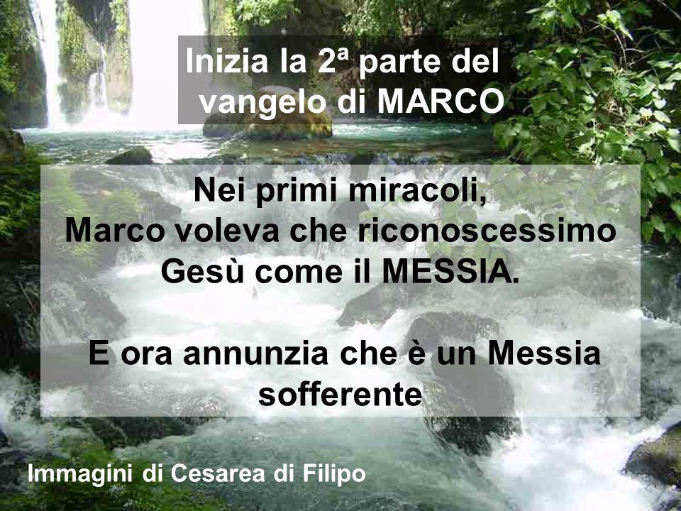Nei primi miracoli, Marco voleva che riconoscessimo Gesù come il MESSIA.