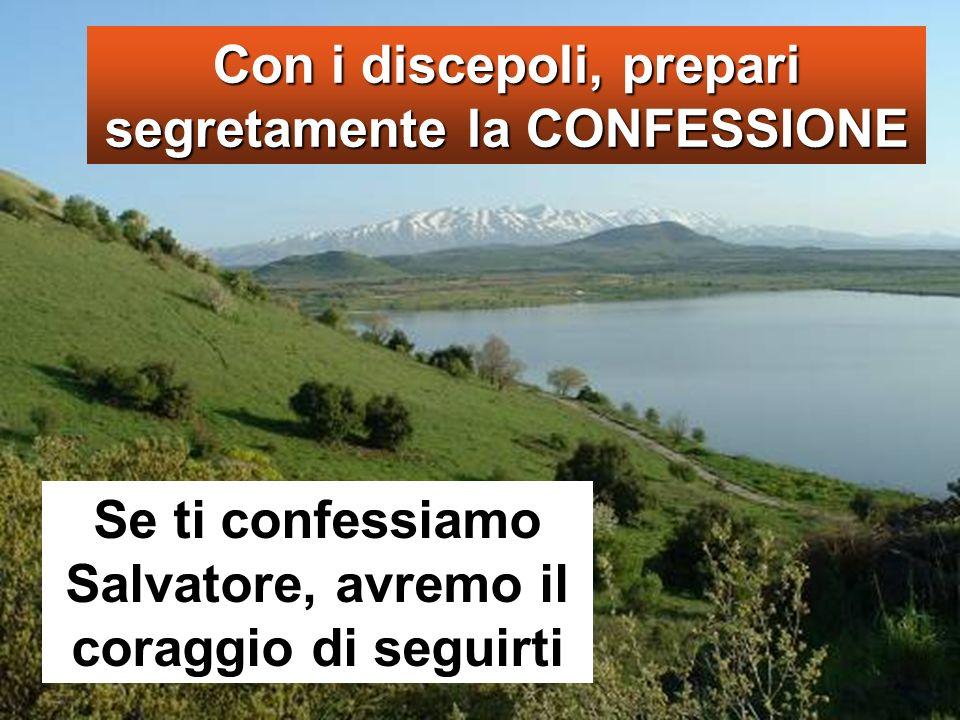 Se ti confessiamo Salvatore, avremo il coraggio di seguirti Con i discepoli, prepari segretamente la CONFESSIONE