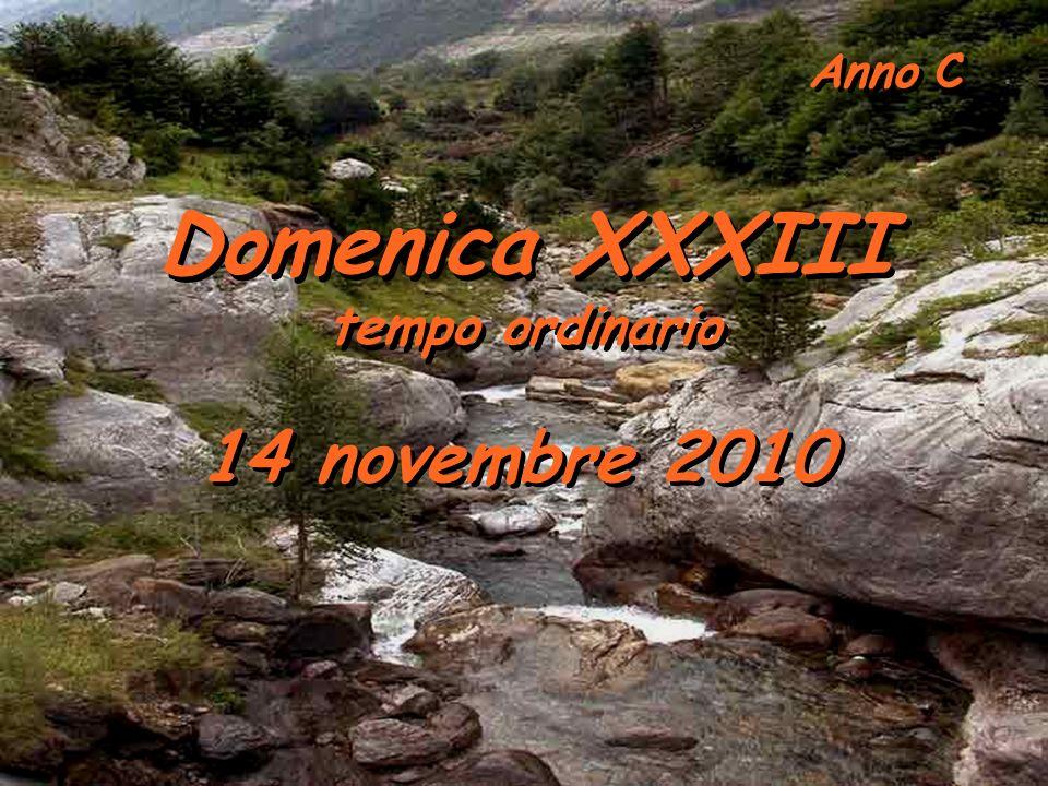 Anno C Domenica XXXIII tempo ordinario Domenica XXXIII tempo ordinario 14 novembre 2010