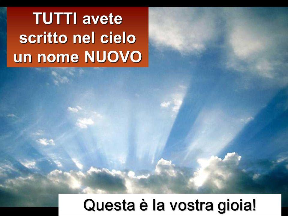 Non rallegratevi però perché i demòni si sottomettono a voi; rallegratevi piuttosto perché i vostri nomi sono scritti nei cieli». Non rallegratevi per