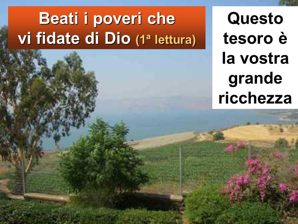 Ed egli, alzàti gli occhi verso i suoi discepoli, diceva: «Beati voi, poveri, perché vostro è il regno di Dio.
