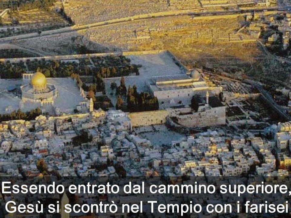 5.a Parte del vangelo di Matteo (c21-25), incentrata nel brano: Il tuo Re entra umilmente in Gerusalemme Immagini del luogo dove si trovava il Tempio