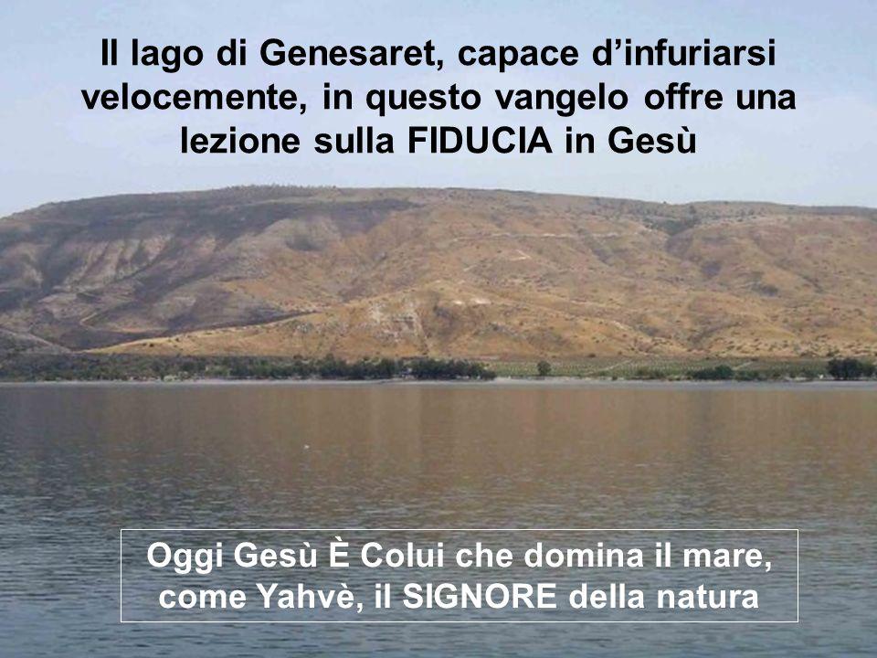 Il vangelo di MARCO che leggiamo, ci racconta CHI È GESÙ Immagini del Lago di Galilea