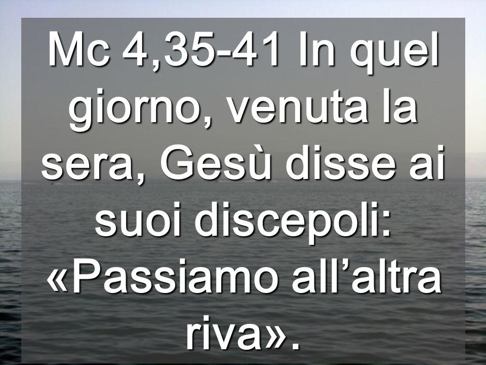 Oggi Gesù È Colui che domina il mare, come Yahvè, il SIGNORE della natura Il lago di Genesaret, capace dinfuriarsi velocemente, in questo vangelo offr