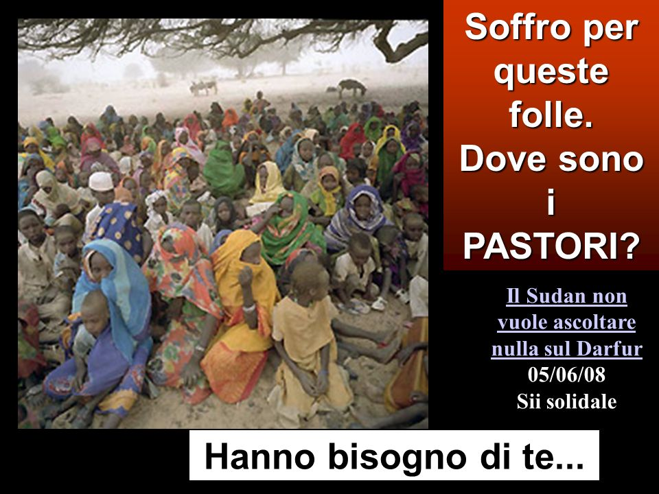 Mt 9,36-10,8 In quel tempo, Gesù, vedendo le folle, ne sentì compassione, perché erano stanche e sfinite come pecore che non hanno pastore.