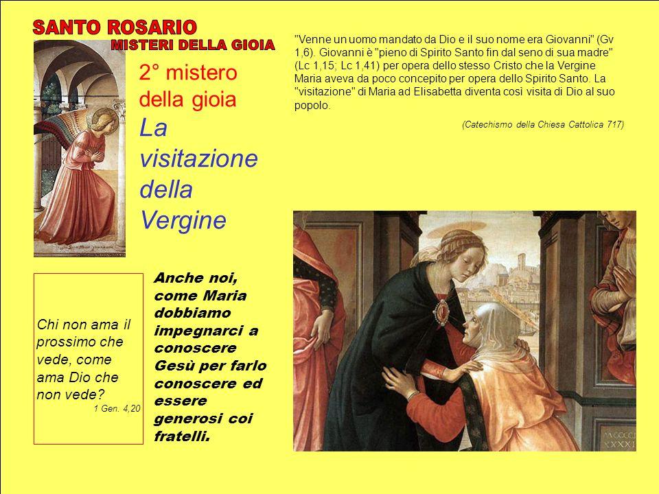 2° mistero della gioia La visitazione della Vergine