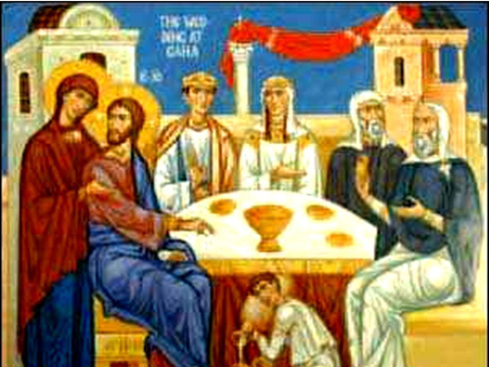1In quel tempo, vi fu una festa di nozze a Cana di Galilea e cera la madre di Gesù.Fu invitato alle nozze anche Gesù con i suoi discepoli.