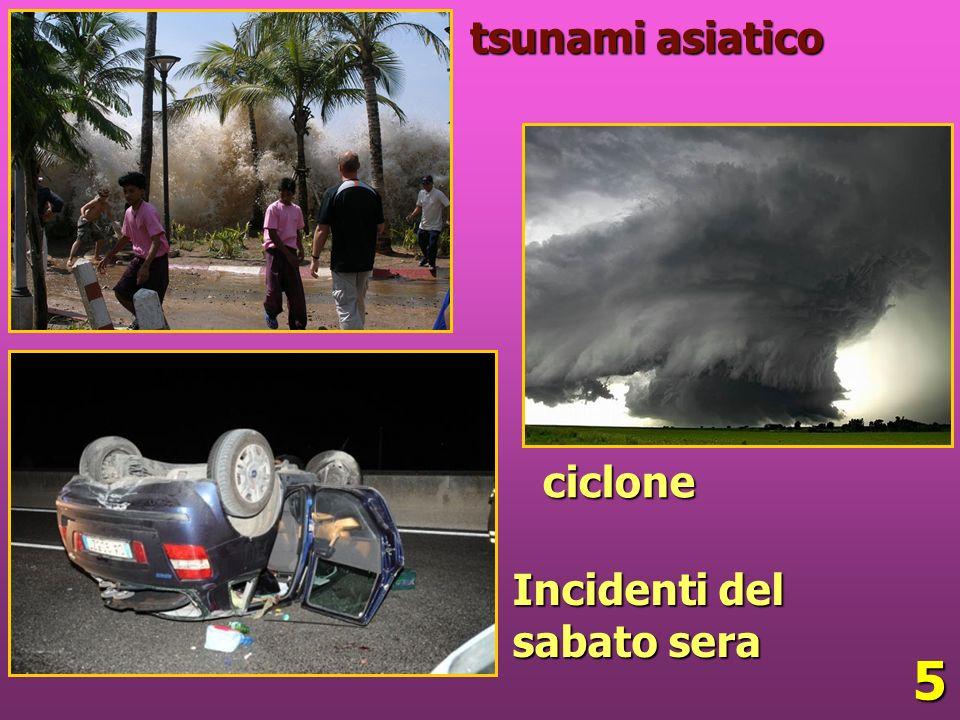 5 tsunami asiatico ciclone Incidenti del sabato sera