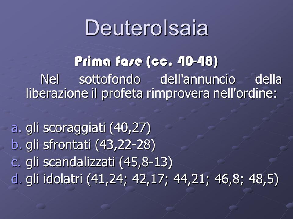 DeuteroIsaia Prima fase (cc.