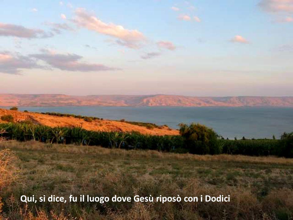 Qui, si dice, fu il luogo dove Gesù riposò con i Dodici